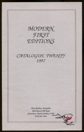 Alice Robbins, Bookseller: Catalogue Twenty, 1997, Modern First Editions