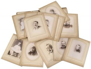 Album of 36 Cabinet Cards from the Late 19th Century