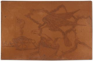 [Engraved Copper Plate]: Bald Eagle Printing Plate