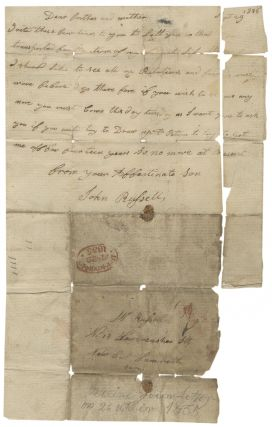 Letters and Petition Concerning a Convict Sent to Australia for a Petty Crime