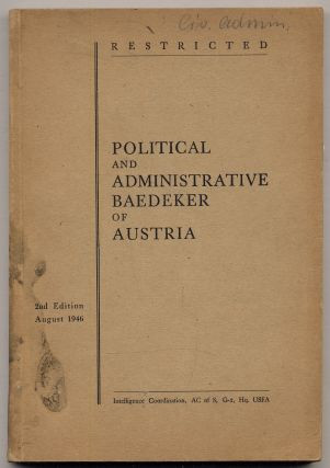 Restricted. Political and Administrative Baedeker of Austria