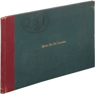 Mexican War Film Corporation Stock Book