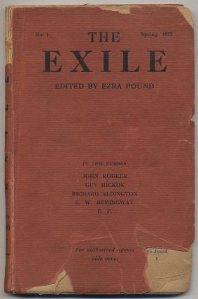 The Exile No. 1, Spring 1927. Ernest HEMINGWAY, Guy Hickok, Richard Aldington, John Rodker