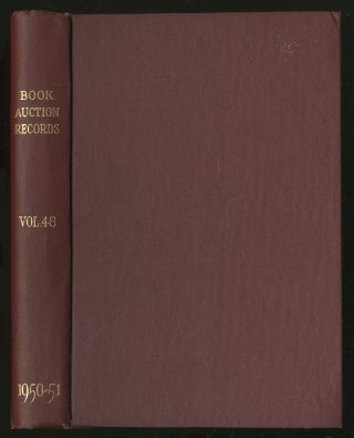 Book-Auction Records: A Priced and Annotated Annual Record of London, New York and Edinburgh...