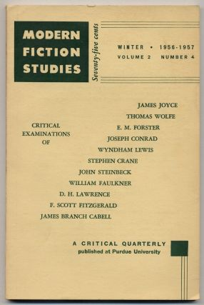 Modern Fiction Studies. Winter 1956-1957. F. Scott FITZGERALD, Thomas Wolfe, James Joyce