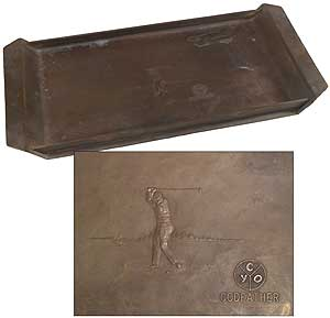 Bronze Golf Tray