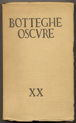 Botteghe Oscure XX