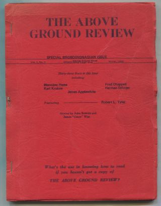 The Above Ground Review – Vol. 1, No. 3, Winter 1963. Herman HESSE, George R. Wood, Kurt Hube,...