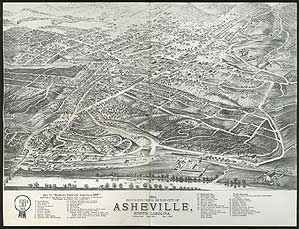 Bird's-Eye View Of The City of Asheville, North Carolina, 1891 [caption title in lower margin]
