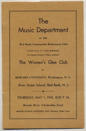 The Music Department of the Red Bank Community Betterment Club: A Unit of the N.J. State...