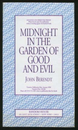 Midnight in the Garden of Good and Evil: A Savannah Story. John BERENDT