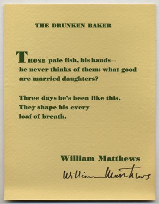 Postcard]: The Drunken Baker