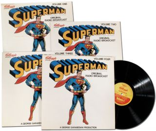 Vinyl Record]: Kellogg's Presents Superman - Volume 1-4