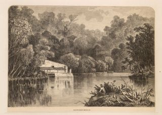 """[Scrap Book]: A Collection of Wood-Engraved Scenic """"Hudson River School"""" American Landscapes and Related Views (circa 1888)"""