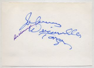 Signatures of Johnny Weissmuller and Maria Weissmuller