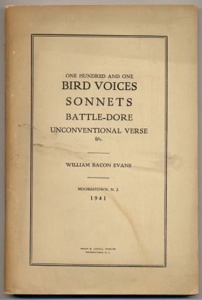 On Hundred and One Bird Voices / Sonnets / Battle-Dore / Unconventional Verse