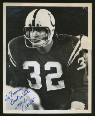 Signed Photograph. Mike CURTIS