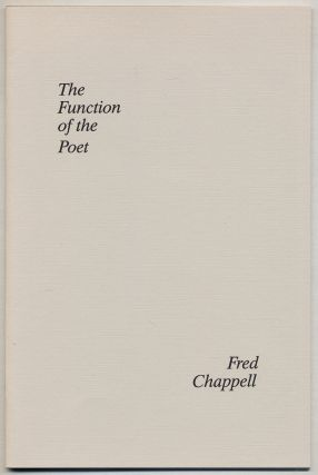 The Function of the Poet