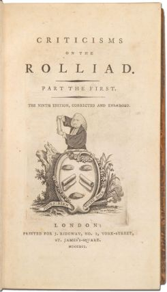 Criticisms on the Rolliad [with] Probationary Odes for the Laureatship [with] Political Miscellanies by the authors of the Rolliad and Probationary Odes (Four Works in One Volume, 1790-1791)