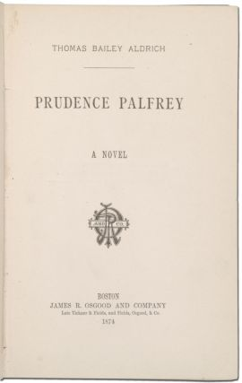 Prudence Palfrey; A Novel (with ALS laid-in)