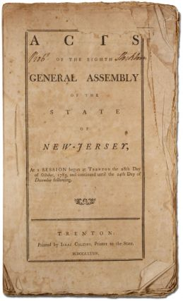 Acts of the Eighth General Assembly of the State of New Jersey, 1783-1784