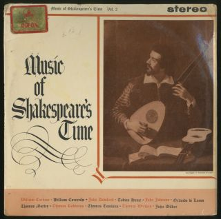 Vinyl Record]: Music of Shakespeare's Time Volume 2
