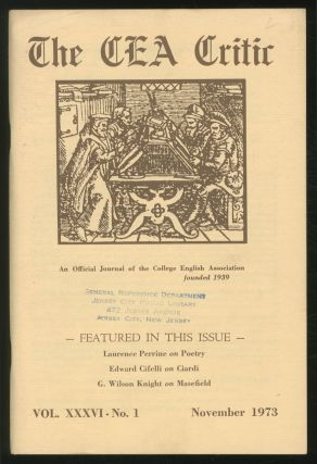 The CEA Critic: An Official Journal of The College English Association: November 1973, Volume 36,...