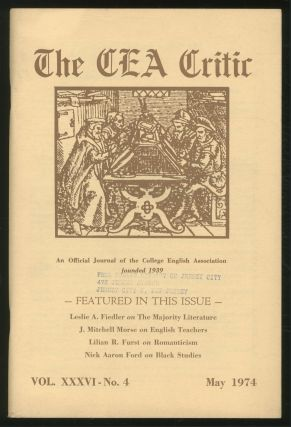 The CEA Critic: An Official Journal of The College English Association: May 1974, Volume 36,...