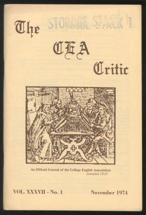 The CEA Critic: An Official Journal of The College English Association: November 1974, Volume 37,...