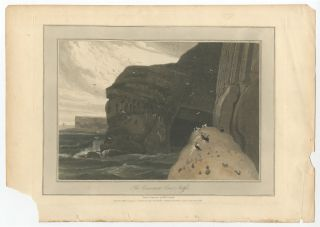 [Print]: The Cormorants Cave, Staffa. William DANIELL.