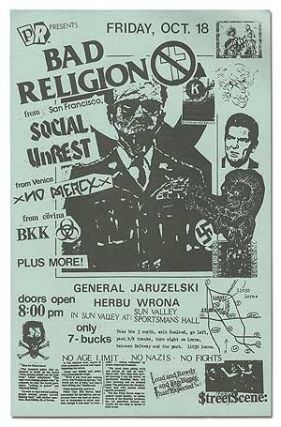 Punk Flyer]: PR Presents Bad Religion. Social Unrest Bad Religion, BKK, No Mercy