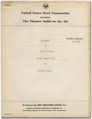 Radio script]: Jeannie. Radio Adaptation by Philip Lewis. Philip LEWIS, Aimee Stuart