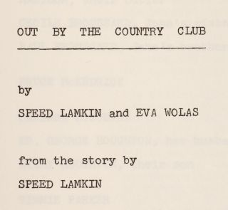 [Screenplay]: Out by the Country Club