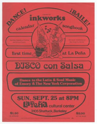 [Flyer]: Disco con Salsa: Dance to the Latin & Soul Music of Emory & The New York Corporation