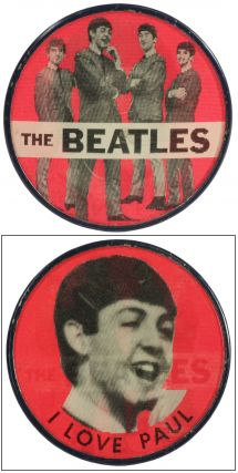 The Beatles I Love Paul Hologram Pin