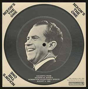 Flexi Disc Postcard. Richard M. NIXON