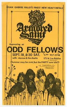 Punk Flyer]: Armored Saint Appearing at Odd Fellows. Armored Saint