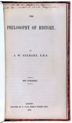 The Philosophy of History (Proof Copy)