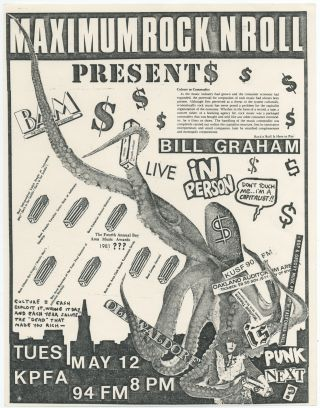 Anti-Bill Graham Punk Flyer