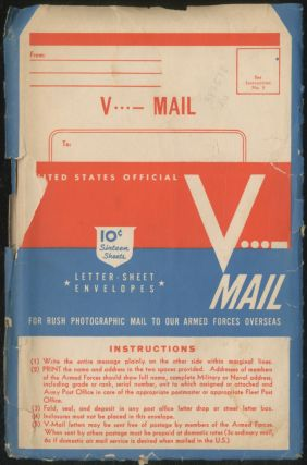 Blank World War II V Mail Stationary