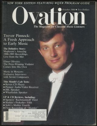 Ovation: Volume 5, Number 9; Trevor Pinnock, A Fresh Approach to Early Music