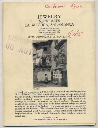 Jewelry: Necklaces La Alberca, Salamanca: From Photographs in the Collection of The Hispanic...