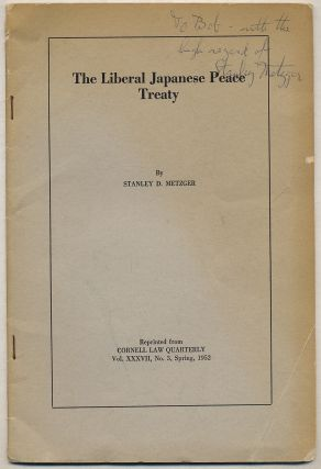 The Liberal Japanese Peace Treaty