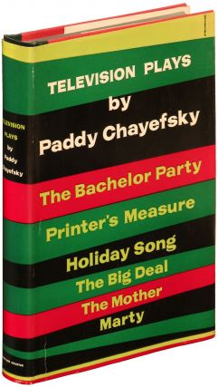 Television Plays. Paddy CHAYEFSKY