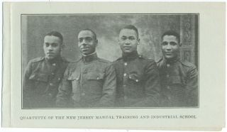 Quartet of the New Jersey Manual Training and Industrial School. Bordentown School