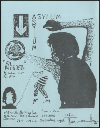 Punk Flyer]: Asylum at The Whistle Bar