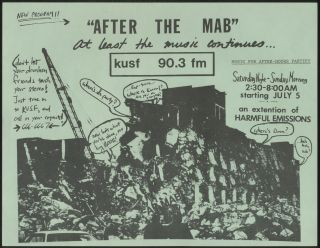 "Punk Flyer]: ""After the Mab"" at Least the Music Continues... KUSF 90.3 fm"