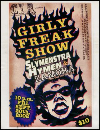 Flyer]: Girly Freak Show featuring Slymenstra Hymen & Zamora: The Torture King