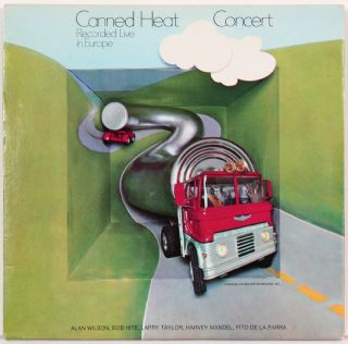 Vinyl Record]: Canned Heat Concert Record Live in Europe. Canned Heat