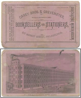 Account book]: Purchasing Memorandum. Carey Bros. & Grevemeyer, Successors to Hollowbush & Carey,...